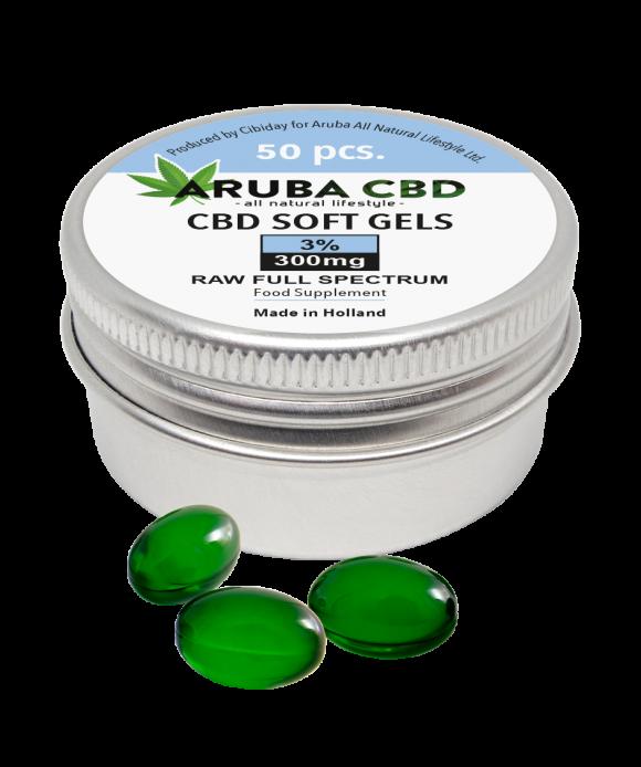 Aruba CBD Softgel capsules 300mg (3%)